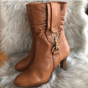 Coach Boots - Torree Leather Heeled Boot